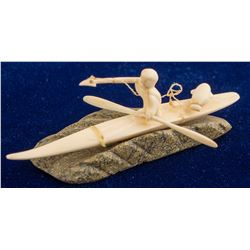 Ivory Fetish--Eskimo Hunting in Kayak