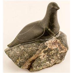 Bird on a Rock Inuit Sculpture