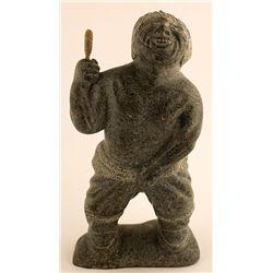 Sculpture of Laughing Man Holding His Pants On, Sak Kannuk