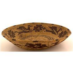 Vintage Papago Pictorial Basket