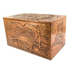 Haida Embossed Copper Chest