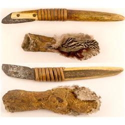 Alaskan Chert Scraper (Ikum) with Sheath