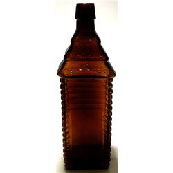 6 Log Amber Plantation Bitters Bottle