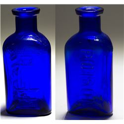 Owl Cobalt Poison Bottle