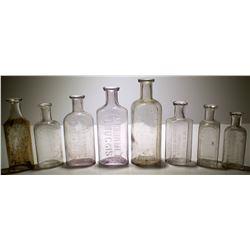 8 Different Carson City, NV Drug Store Bottles