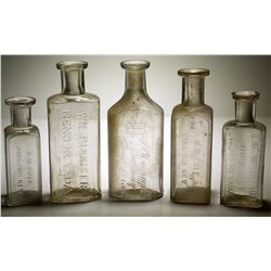 5 Nevada Drug Store Bottles: Reno & Virginia City