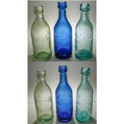 3 Jackson's Napa Soda Mineral Water Bottles