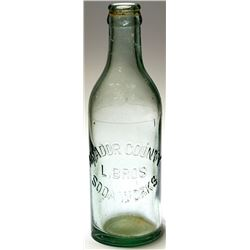 L. Bros Soda Bottle