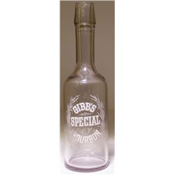 Gibb's Special Bourbon Back Bar Bottle