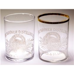 Two Hayner Distillery Shot Glasses