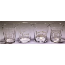4 Sunny Brook Shot Glasses