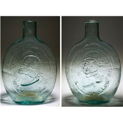 Washington Taylor Aqua Historical Flask