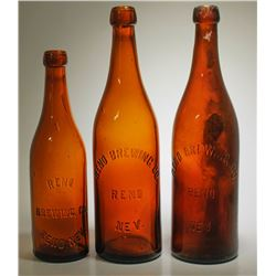 3 Reno Brewing Co. Bottles