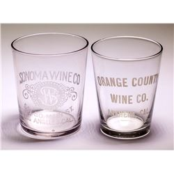 2 California Wine Co. Shot Glasses