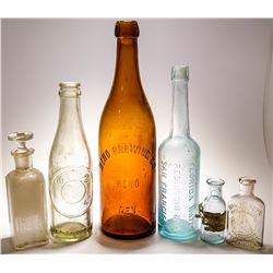 Eclectic Nevada Related Antique Bottle Group