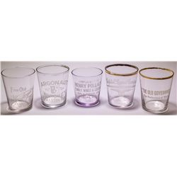 5 Clear Shot Glasses