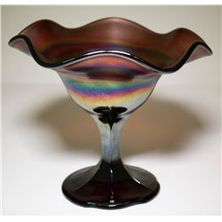 Northwood Antique Rainbow Carnival Glass Candy Dish