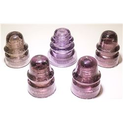 5 Purple Insulators