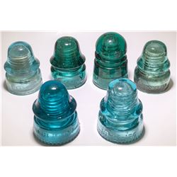 6 Assorted Insulators