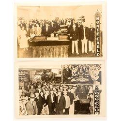 Two Real Photo Nevada Gambling Postcards