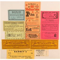 Small Town Nevada Gaming Ephemera
