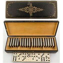 Ivory or Bone Domino Set