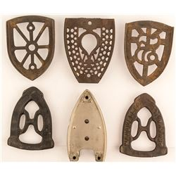 6 Different Vintage Ironing Trivets
