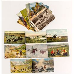Cattle Drive Cowboy Postcard Collection