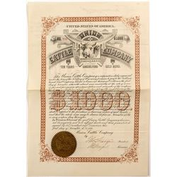 Union Cattle Company Bond