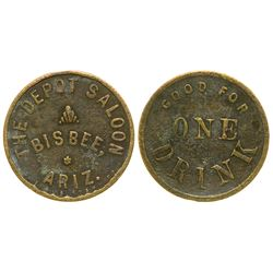 Depot Saloon Token (Bisbee, Arizona)