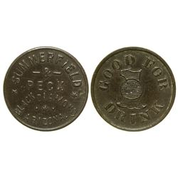 Summerfield & Peck Token (Black Diamond, Arizona)