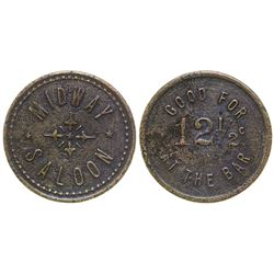 Midway Saloon Token (Lowell, Arizona)