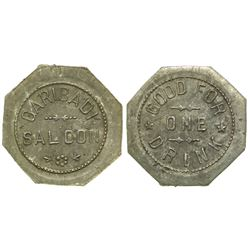 Garibadi Saloon Token (Tombstone, Arizona)