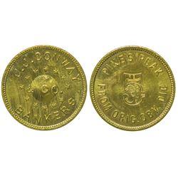 J. J. Conway $5 token from Original Die