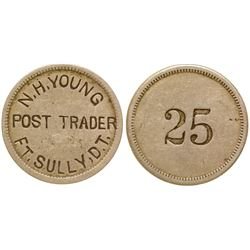 N.H. Young, Post Trader, Ft. Sully, Dakota Territory Token (25c)