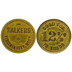 Walkers, Virginia City, Montana Token