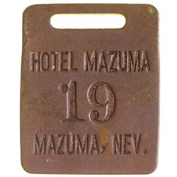 Hotel Mazuma Room Tag (Nevada Ghost Town)
