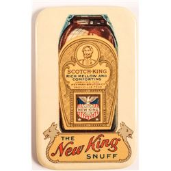 New King Snuff Advertising Mirror