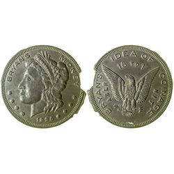 """Bryan's Idea of Coinage"" Error Coin (Schornstein 817)"