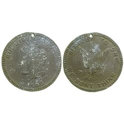 Bullion Value Bryan So-Called Dollar (Schornstein 849)