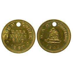 Plum Creek Indian Raid Token/Medal