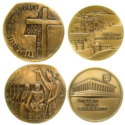 Two Large Copper Israeli Medals