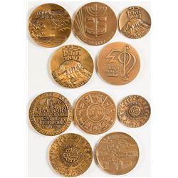 Five Copper Israeli Medals