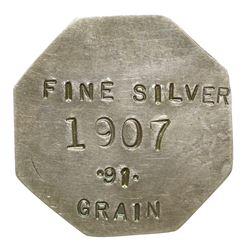1907 Silver Octagonal Coin