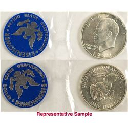 Eisenhower Uncirculated Silver Dollars