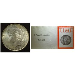 Peace Dollar presented by Time Magazine