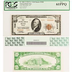 First National Bank $10 Bill (Reno, Nevada)