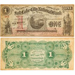 Salt Lake City National Bank of Utah $1 Bill