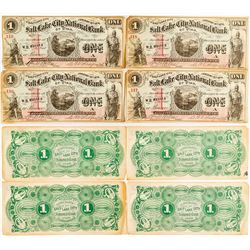Four Salt Lake City National Bank of Utah $1 Bills (Sequential Serial Numbers)