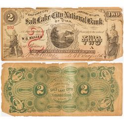 Salt Lake City National Bank of Utah $2 Bill